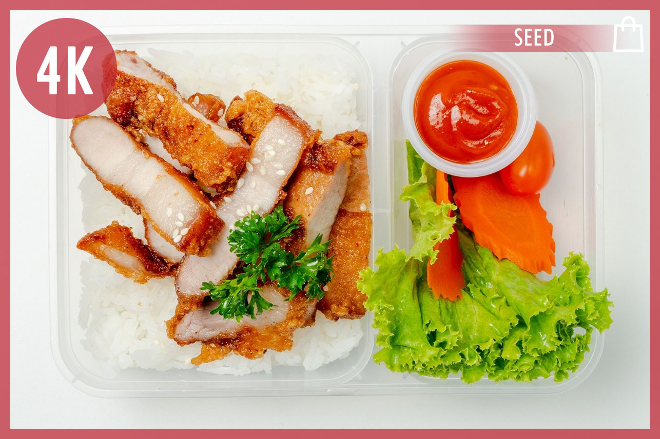 Fried Pork on Rice & Korean Sauce