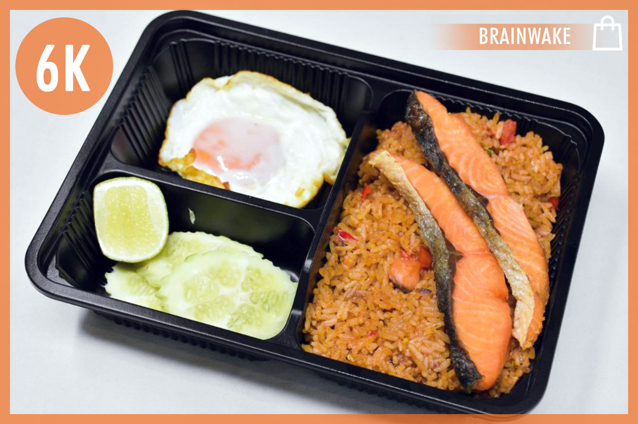 Spicy Salmon Fried Rice